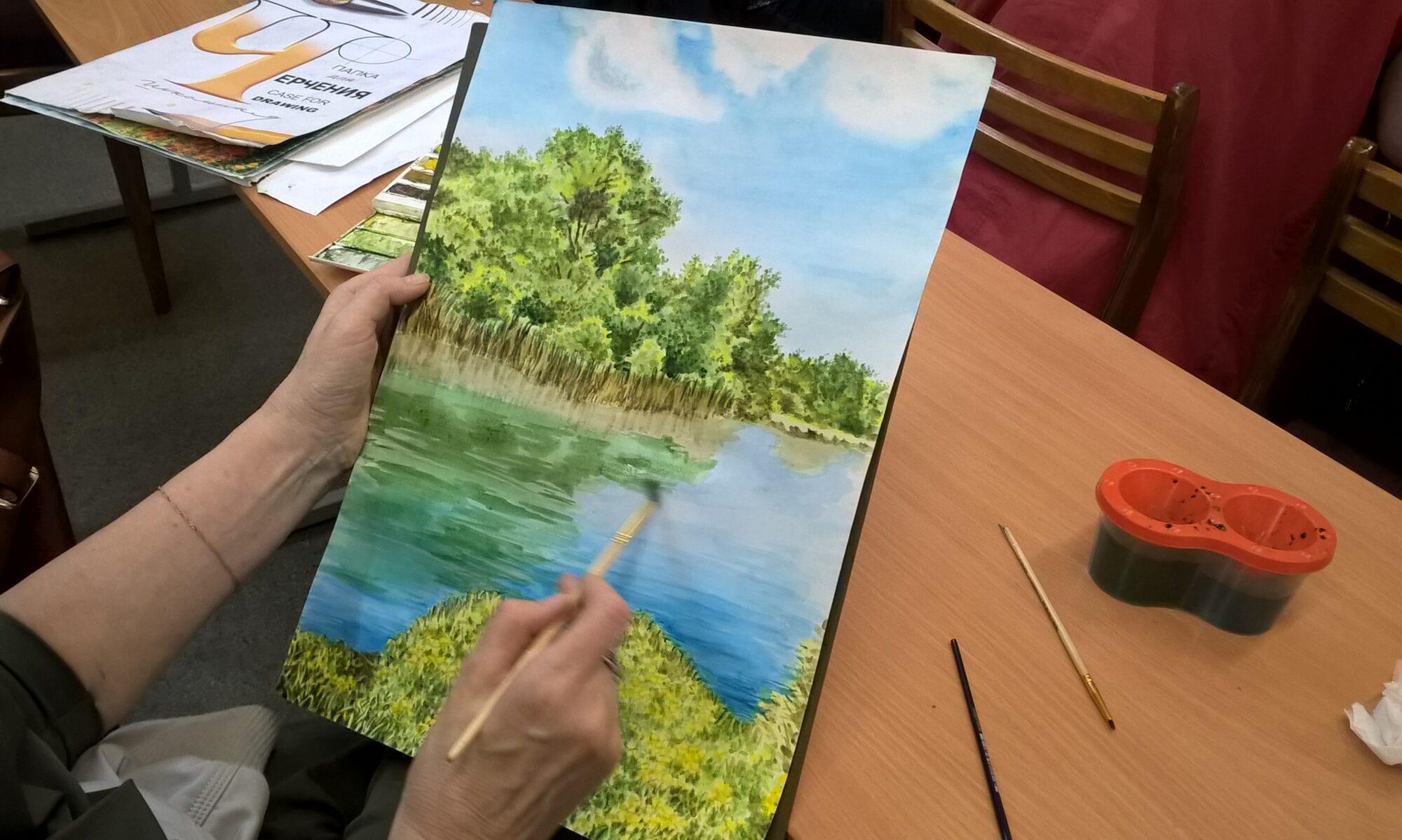 Зеркало. Студия рисования для взрослых.
